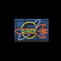 beer dinner - DINNER Real Glass Neon Light Sign Home Beer Bar Pub Recreation Room Game Room Windows Garage Wall Sign