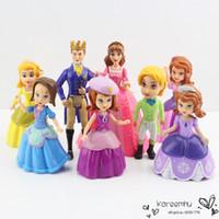Wholesale 1 Set Retail set cm The First Princess Sofia PVC Action Figures Model Toys Dolls Christmas Gifts For Children Toys