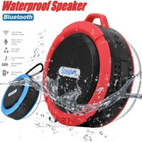 Wholesale C6 Speaker Bluetooth Speaker Wireless Potable Audio Player Waterproof Speaker Hook And Suction Cup Stereo Music Player With Retail Package