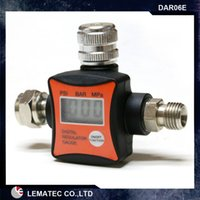 Wholesale LEMATEC New Design Digital Air Pressure Regulator Flow Regulator Air Pressure Gauge CE quot air accessory for Air tools