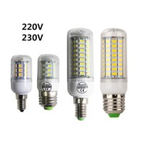 Wholesale E27 E14 Led cron Bulb V W W W SMD5730 Warm white LED Corn Lamp Bulb Light v AC