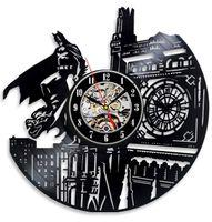 Wholesale Vinyl Evolution Batman Dark Knight Wall Clock Black