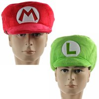 baseball pc games - New Super Mario Red Mario Hat Green Luigi Cap Cosplay Anime Adult Costume Baseball Wearing Perimeter quot Free Track Code