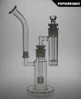 ash size - New cm total tall glass bong matrix percolator smoking water bong headshow percolator ash catcher water pipes joint size mm FC MOD