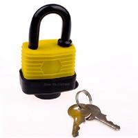 Wholesale 22 galvanized lock plates fixed by rivets chrome lock beam yellow door lock core mm short beam yellow waterproof lock