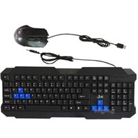 Wholesale USB Interface Gaming Keyboard And Mouse Combos Computer Accessories Large Rest Design Office Equipment Working Keyboard Mouse Sets