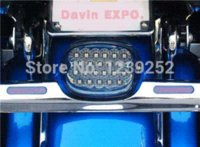 Wholesale NEW Smoke Motorcycle Lens tail brake LED light For quot quot Harley Davidson motorcycle stop lamp XL FX