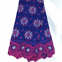 Wholesale New Arrival African Cotton Voile Lace Fabric Hot Style Wonderful Embroidery Swiss Lace Material On Sale