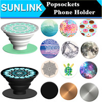 Wholesale Universal PopSockets Expanding Stand and Grip for Smartphones and Tablets Flexible Mobile Phone Holder Mount Chakra Marble Nebula Mandala