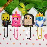 Wholesale NEW Creative Adventure Time with Finn and Jake bookmarks cartoon bookmarks bookmarks bookmarks paper clip bookmarks