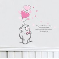 bear love quotes - 2016 New Love Polar Bear Wall Stickers Home Decor Wall Decal Quotes Living Room Bedroom Mural