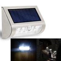 battery powered patio lights - High Quality LED PIR Solar Wall Light Yard Patio Path Fence Wall Stair Lamp Battery powered Solar Garden Smart Light