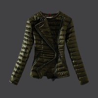 army duck fabric - Army Green Women Jacket Striped Fabric Down Jacket Pure Duck Down Overcoat Woman Clothes Colors