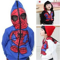 Wholesale Boys Kids Clothing Clothes Cotton Spiderman Autumn Winter Long Sleeve Hoodies Jacket Coat Kids Outfits Fashion Children Clothing Colors