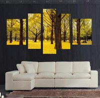 autumn scenery - shipping Autumn scenery yellow leaves Home Decor Wall Art pictures canvas Pil Paintings