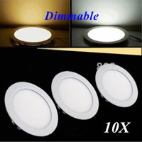 Wholesale DHL Dimmable W W W W W W CREE LED Panel lights Recessed lamp Round Warm Cool White Led lights for indoor lights