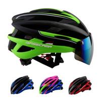 achat en gros de casque vtt-Gros-Hot! Ultralight VTT Mountain Road Bike Casque de vélo Bisiklet Kask Sac cadeau de lunettes Casque de vélo Casco Ciclismo Hommes Femmes