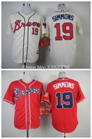 atlanta delivery - 2015 New Fast Delivery Cheap Mens Atlanta Braves Jersey Andrelton Simmons Cool Base Baseball Jersey Embroidery Logos Size M XXXL