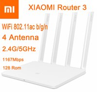 Wholesale 2016 CPU MT7620A ROM MB Flash original xiaomi mi WiFi router Dual band antenna GHz Mbps WiFi ac b g n APP Control