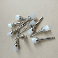 Wholesale High quality Pack Dental Prophy Brush latch flat White Nylon Bowl Shape Polishing Brush Pack