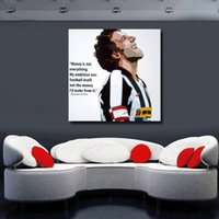 alessandro del piero - For Sell Alessandro Del Piero Pop Art Hand painted Canvas Painting Wall Art Football Poster Oil Painting