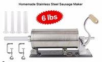 Wholesale 6 lbs homemade sausage stuffer filler stainless steel manual horizontal sausage maker meat processor tool sausage salami maker