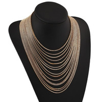 easter dresses for women - Hot Maxi Collares Multi layer Necklace Gold Plated Tassle Necklace for Women Dress Statement Summer Sweater Necklace drop ship
