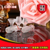 acrylic wine glasses - Cup Drip Tips Transparent Acrylic Drip Tips Wine Glass Style Wineglass Design Mouthpiece Fit E Cigarette Atomizer DHL Free