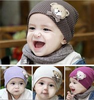 Wholesale Baby bear little sets of headgear bonnet baby hat children winter hat men and women