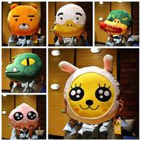 animal face pillows - 2016 Newest design Korea Cartoon faces Kakao frineds Kobito Ryan cushion Pillow cm Plush toys