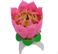 beautiful scented candles - 2016 Pink Scented Candles Offer Candle Lamp No Red Velas Decorativas Beautiful Birthday Gift Flower Music Lotus New Candles Petal for Party