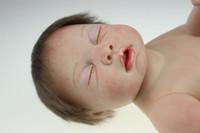 al por mayor muñecas de las niñas a tamaño completo-Dormir 20 pulgadas hecha a mano del bebé Tamaño Renacido muñeca realista del recién nacido niño de muñecas de vida completo del silicón de la muñeca de la niña
