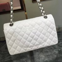 Wholesale dh plain bag fashion jumbo double flap bag lady original caviar calfskin shoulder bag women leather fashion handbags color