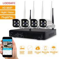Wholesale LOOSAFE CH HD P Megapixel Waterproof Wireless Wifi Indoor and Outdoor Security NVR CCTV IP Camera Kits