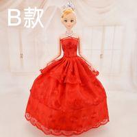 Wholesale 2016 New Classic Barbie Princess Doll Fancy Wedding Dress High Quality