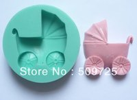 baby buggy cakes - New Silicone Cake Mold Baking Mould Baby Buggy Shape Clay Gum Paste Fondant