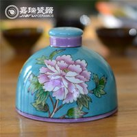 Wholesale Pure Hand Painted Incense Disfuser floral pattern HIGH QUALITY Home Decor Accessories ceramic Art Crafts
