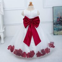 autumn colors wedding - High Quality colors New Flower Girl dress for Wedding Floor length Princess girls Pageant Dresses First communion dress