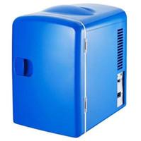 mini refrigerator - Car mini Refrigerator freezer V Portable Fridge Cooler Warmer L Blue