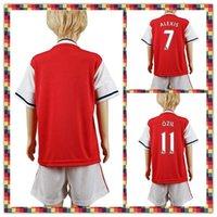 arsenal youth soccer - Uniforms Kit Youth Kids arsenal Ozil Wilshere Alexis XHAKA Red Soccer Jersey Shirt Home Jerseys