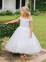 beauty accents - Flower Girl Dress sheer illusion sleeves intricate embroidered accent throug First Communion Dresses Stunning classic beauty soft and dreamy