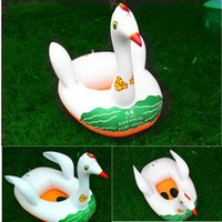 Wholesale Cute Inflatable Baby Swimming Pool Seat Float High Quality Summer Swimming Ring Swan Seat