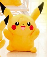 Wholesale Pikachu Plush dolls cm inch Poke plush toys cartoon poke Stuffed animals toys soft Christmas toys best Gifts