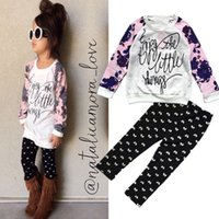 gradient denim shirt - 2016 New baby clothes Kids pullover T Shirt trousers Set Children Cartoon Skirt Set Girl girls clothing sets