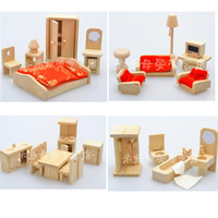 Wholesale Baby Toys Wooden Furniture Set Child Intelligence Toys Baby Wooden Toy Set Pretend Play Sets For Choose Child Gift