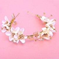artificial flora - Handmade flora bridal headbands tiaras artificial flower hair band wedding hair accessories headbands