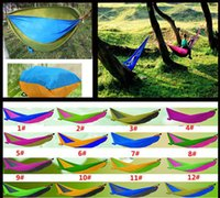 Wholesale Best Selling Summer Indoor Outdoor Hammock For Two People Portable Parachute Cloth Hammock Max Load KG cm Mix Color