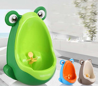 baby bathroom accessories - Free EMS Lovely Frog Boy Kids Baby Toilet Training children Potty Urinal Pee Trainer Urine Home Bathroom Accessories ZJ16 T01