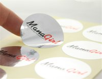 Wholesale 1000pcs Custom Glossy Silver Waterproof Stickers Shinny Products Instructions Description Adhesive Stickers