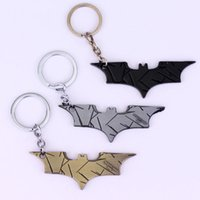 bats figure - Top Quality The Dark Knight Mask keyring color Bats dart Marvel Superhero Batman Keychain Metal Figure Toy Pendants gifts